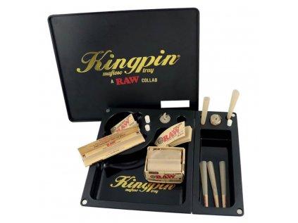 Balící Podložka Kingpin & RAW Collaboration Mafioso Large 3 Part Rolling Tray