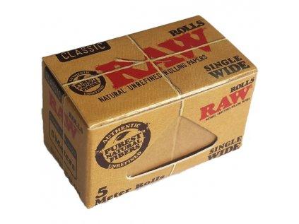Nekonečné papírky RAW Classic Single Wide Rolls 5 m