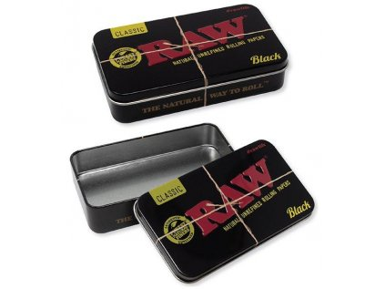 RAW Black Metal Tin Box