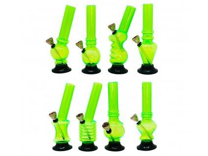 Mini akrylový bong zelený 15 cm
