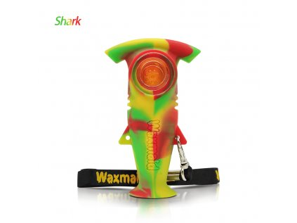 "Waxmaid 4.3"" Shark Handpipe (Colour Translucent Orange)"