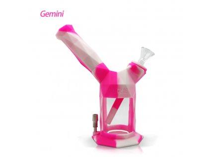 Gemini2 IN 1siliconeglassbubblernectarcollector pinkcream 2048x
