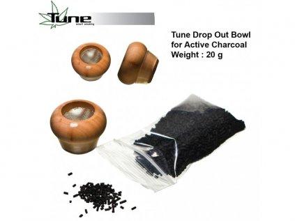 Kotlík s aktivním uhlím Tune Drop Out Bowl BIG for Active Charcoal with 20g...