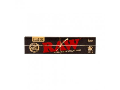 Papírky RAW BLACK KING SIZE SLIM