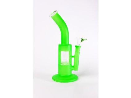 Svítivě zelený matný skleněný bong Glass Bong HoneyComb in 4 Colours green