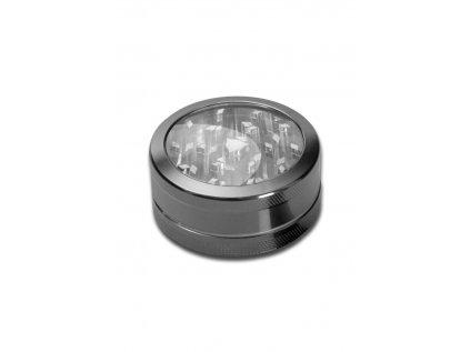 Hliníková drtička s průzorem Neutral Window Grinder 2-part anodised grey