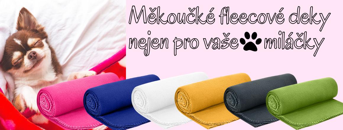 Fleecové deky v různých barvách