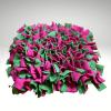 cmuchaci koberecek zeleno ruzovy 1