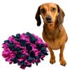 čmuchací kobereček růžovo černý kulatý sindy
