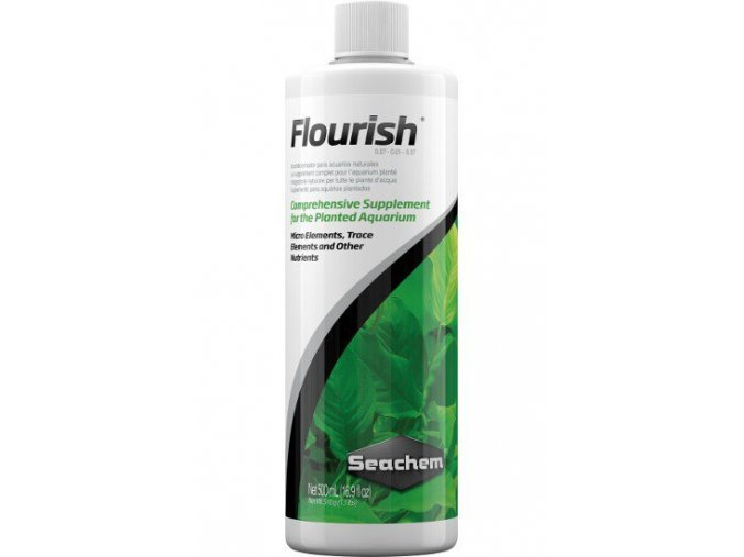 Seachem Flourish 500 ml  + DÁREK ZDARMA -  Stříkačka 5 ml pro přesné dávkování