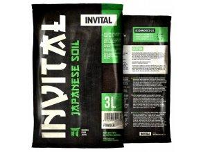 INVITAL Japanese Soil 3l Powder hnědý japonský substrát
