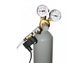 CO2 set W21.8. s manometrem + noční vypínání + láhev