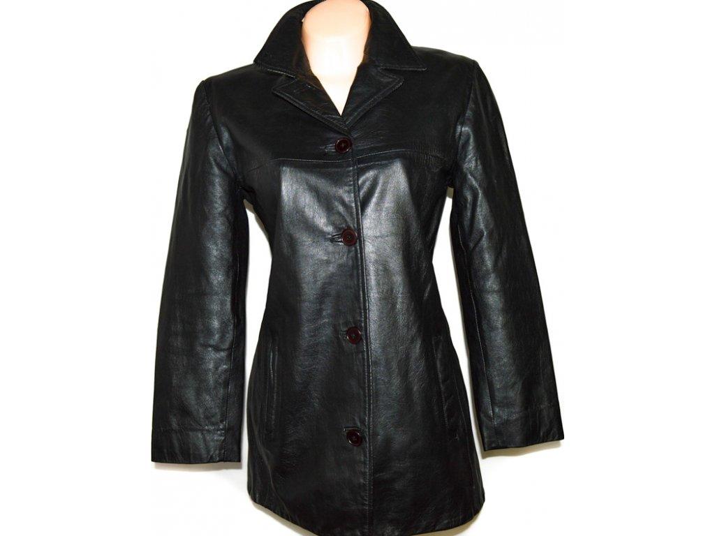 KOŽENÝ dámský černý kabát AMARANTO L/XL