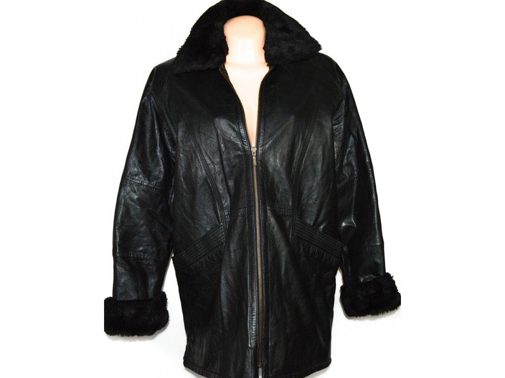 KOŽENÝ dámský černý měkkoučký kabát AMARANTO XXL