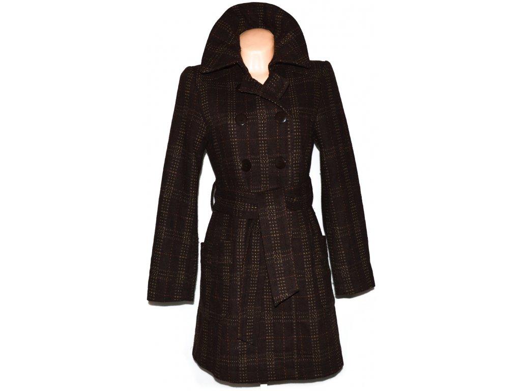 Dámský hnědý kabát s páskem Ann Christine M - Coat-Master.cz cd2ffb2f139