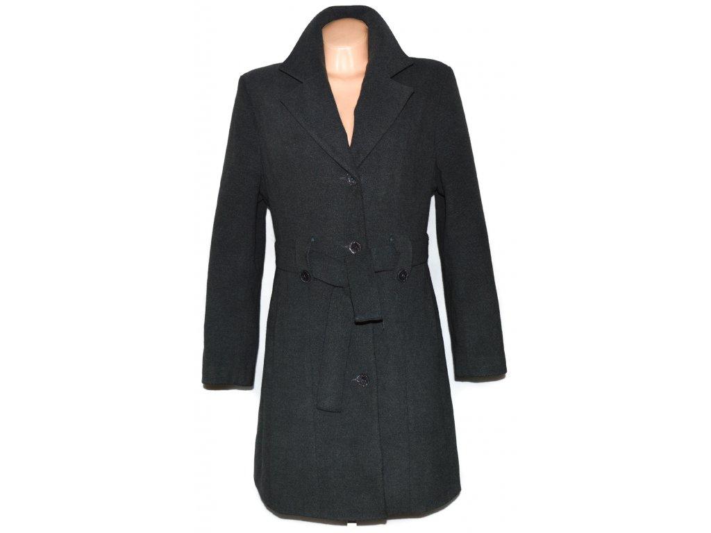 Vlněný dámský šedý kabát s páskem Adrianno Damianii XL - Coat-Master.cz bf0ad5e9aca