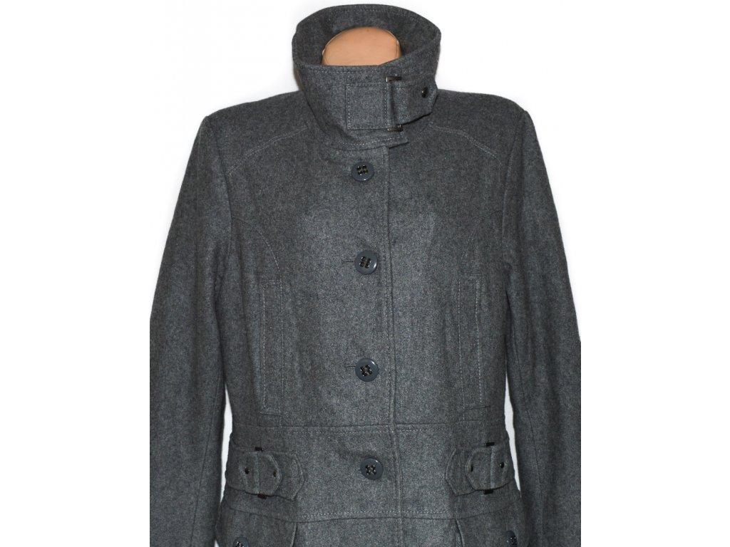 Vlněný dámský šedý kabát XXL - Coat-Master.cz f90d230c9e