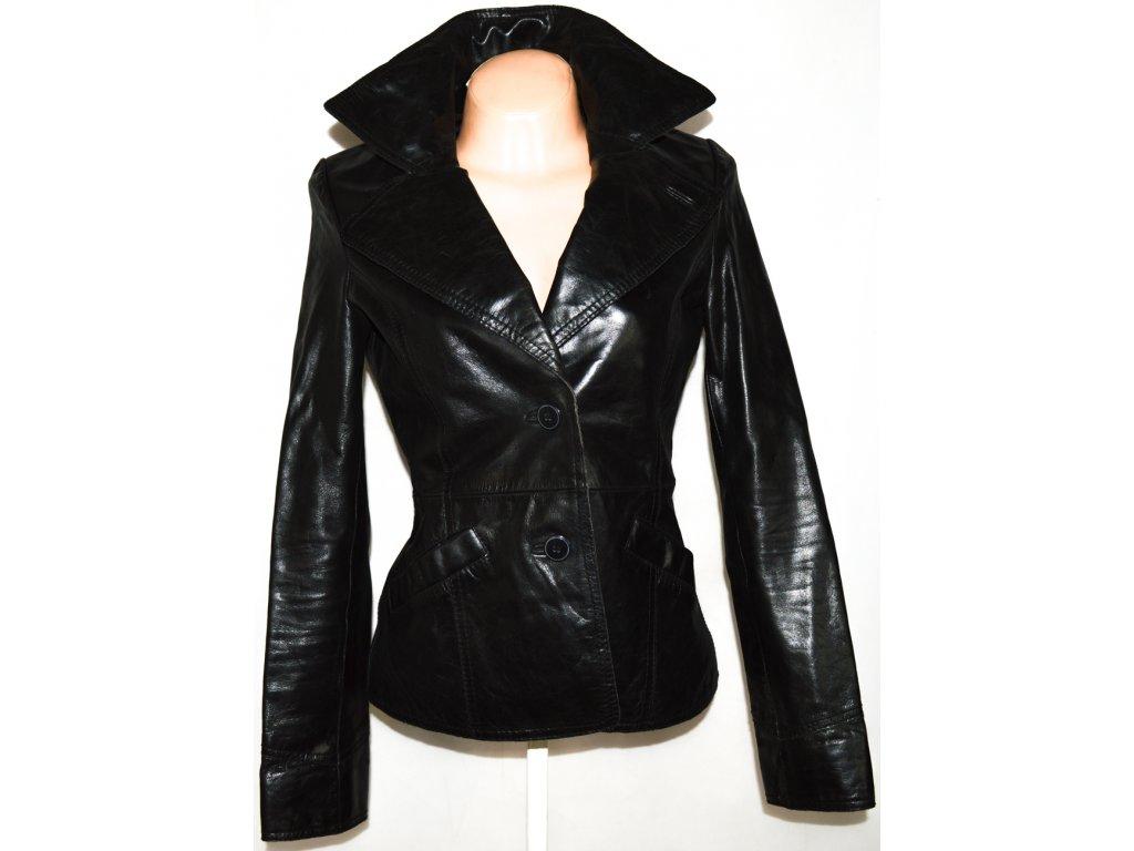 KOŽENÉ dámské černé měkké sako BIK BOK vel. M