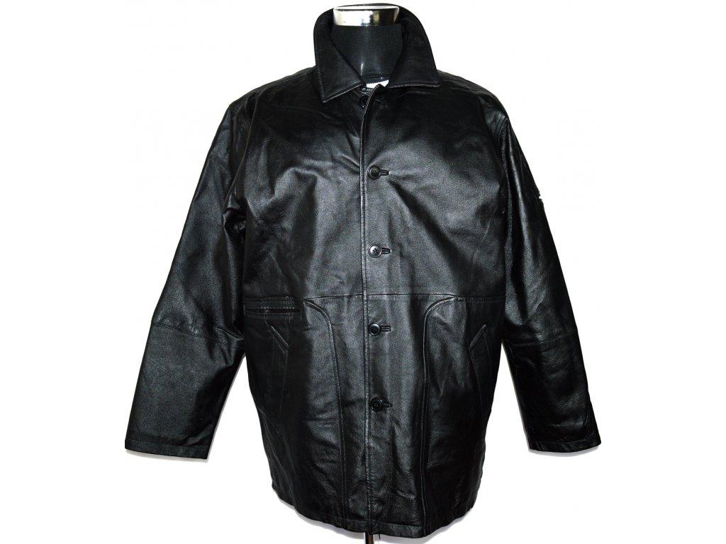 KOŽENÁ pánská černá měkká zateplená bunda UNION RIVER