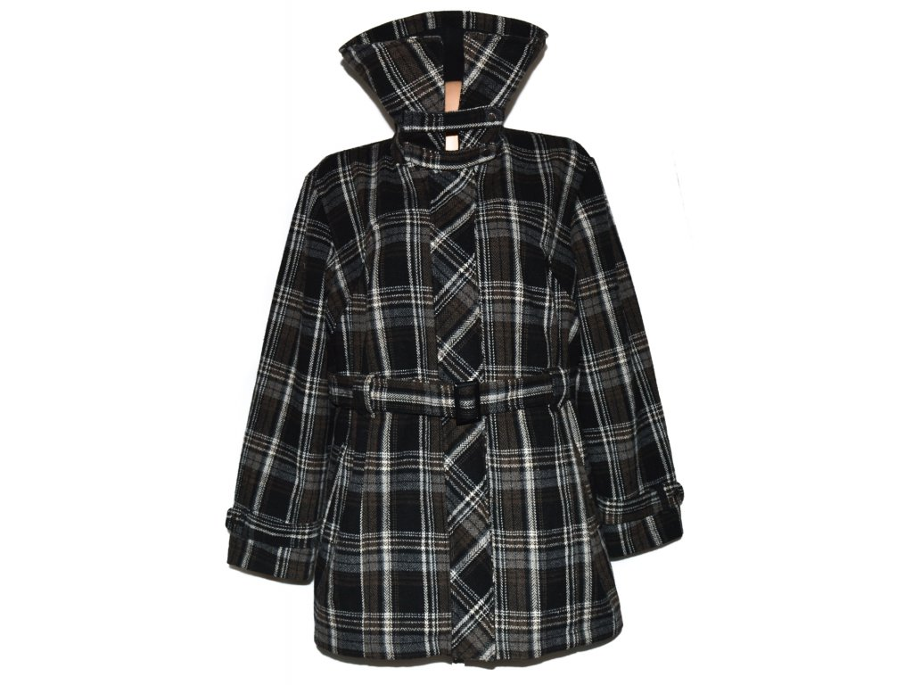 Dámský nadměrný kabát s páskem na zip