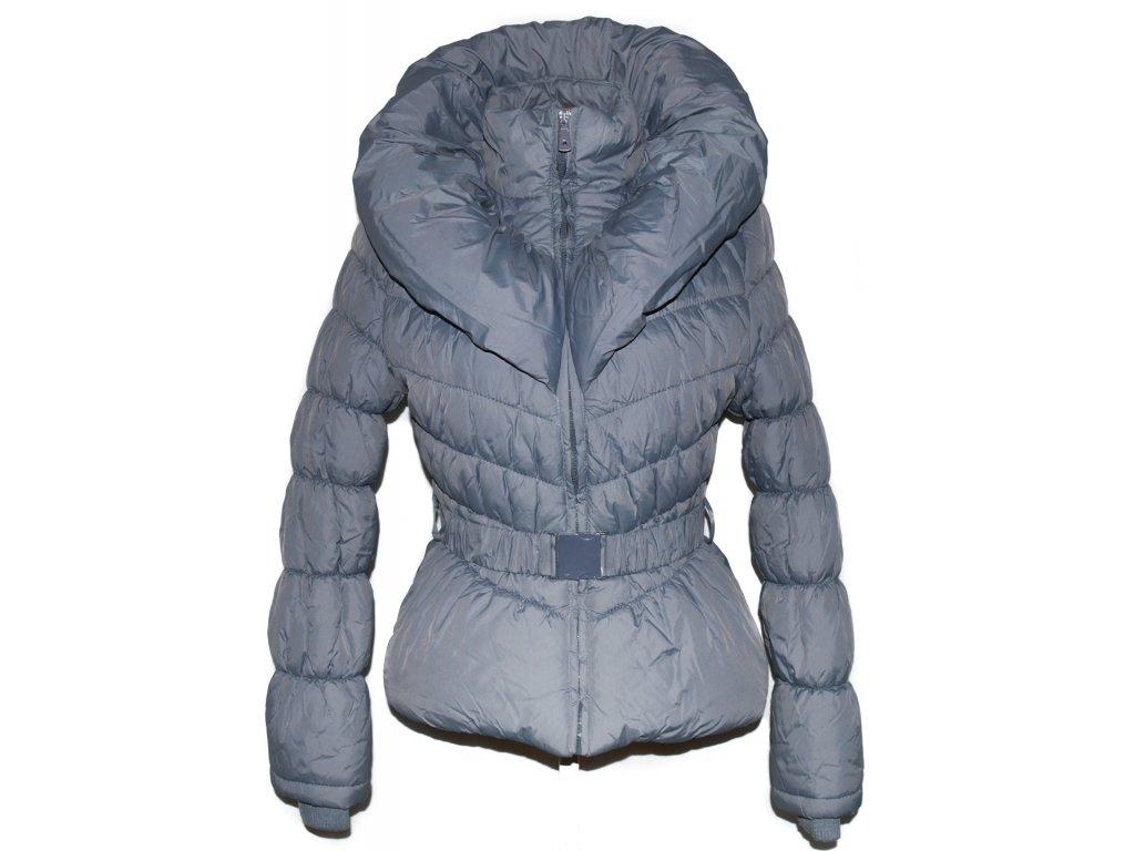 Dámský šedý kabát s páskem 3d18bbc0800