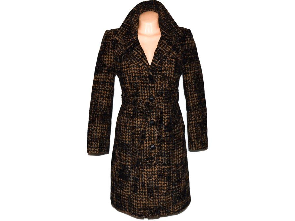 Dámský zateplený hnědo-černý kabát s páskem Ulmar L - Coat-Master.cz 241ef9e91f
