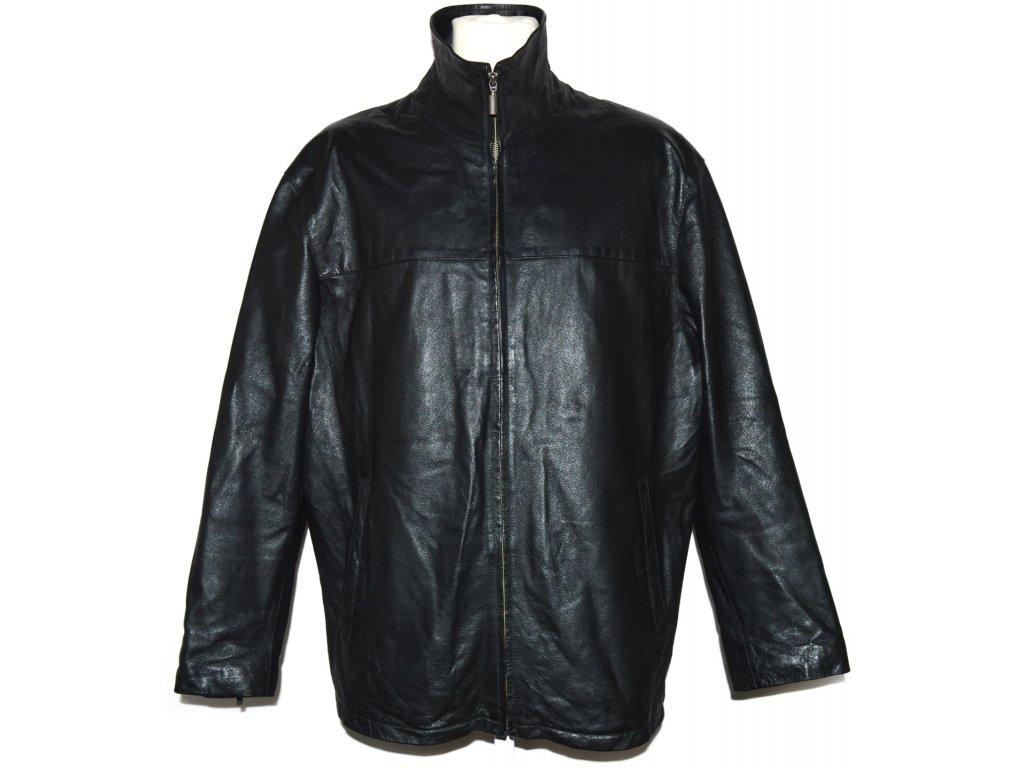 0e71685f3 KOŽENÁ pánská černá měkká bunda na zip C&A XXL - Coat-Master.cz