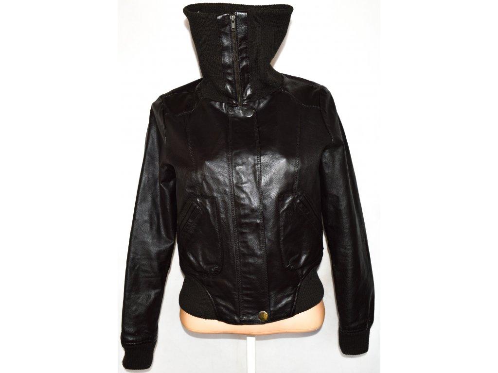 KOŽENÁ dámská hnědá bunda na zip Atmosphere M, L