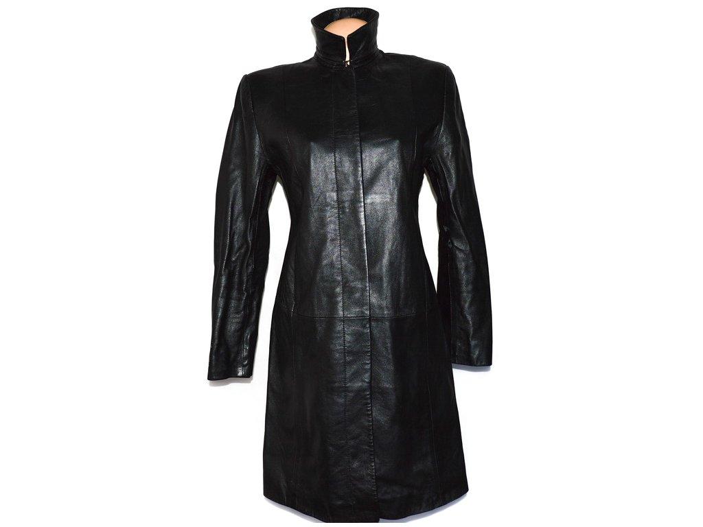 KOŽENÝ dámský černý měkký kabát Marks&Spencer