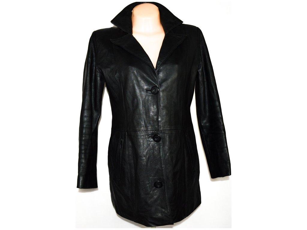 iKOŽENÝ dámský černý měkký kabát L