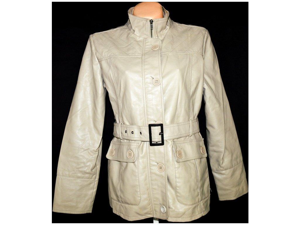Dámský koženkový kabát s páskem Millers XL