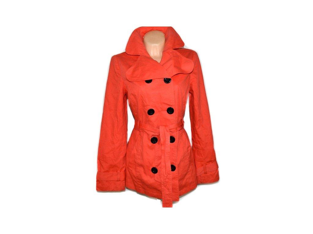 Bavlněný dámský oranžový kabát s páskem BLEND L