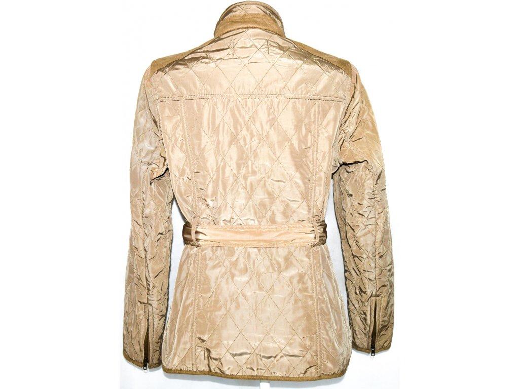 ... Dámský hnědý prošívaný kabát na zip bafac009c90