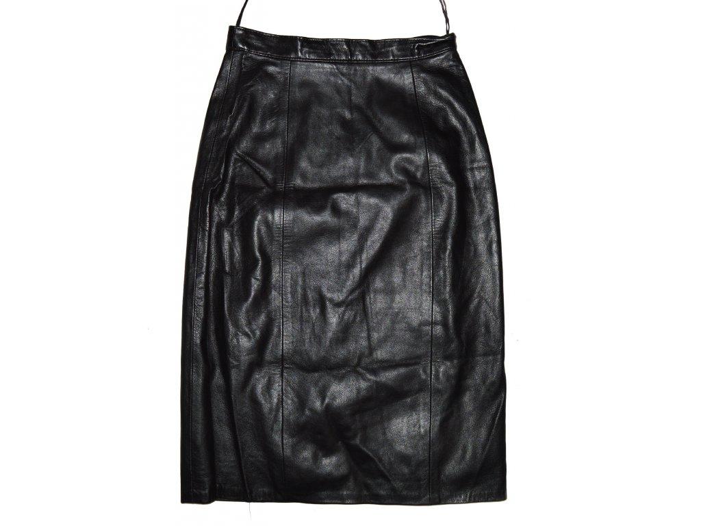 KOŽENÁ dámská měkká černá sukně LAKELAND UK 14