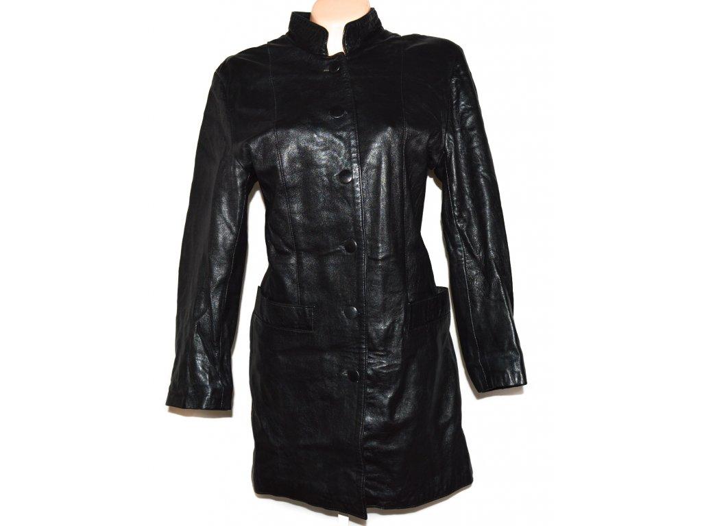 Kožený dámský černý měkký kabát PAOLO XL