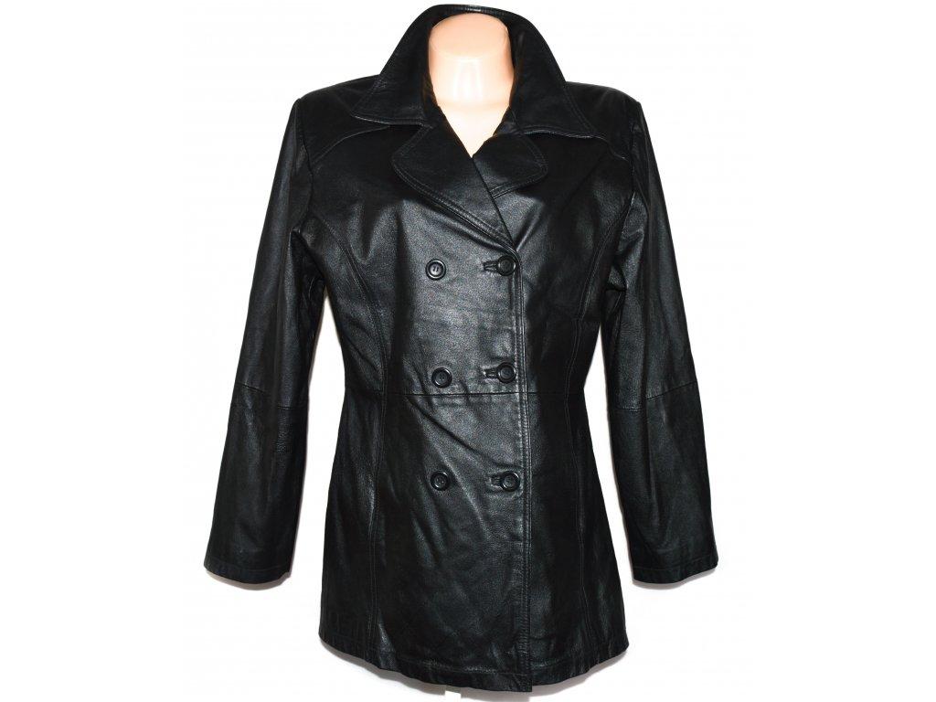 KOŽENÝ dámský černý měkký kabát C&A L