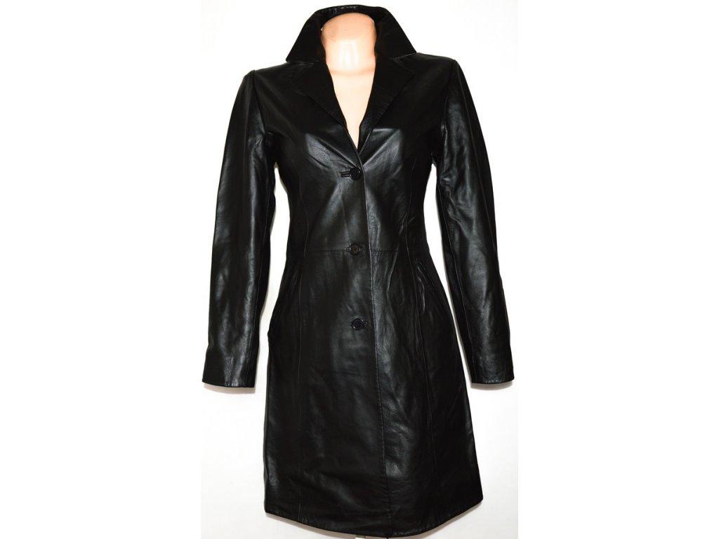 KOŽENÝ dámský měkký černý kabát AUTONOMY M