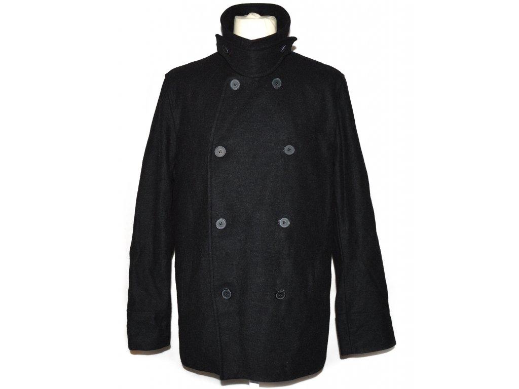 Vlněný pánský šedočerný kabát Fullcircle M