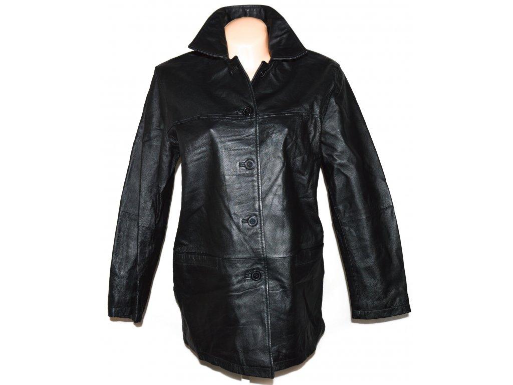 KOŽENÝ dámský černý kabát MILAN LEATHER