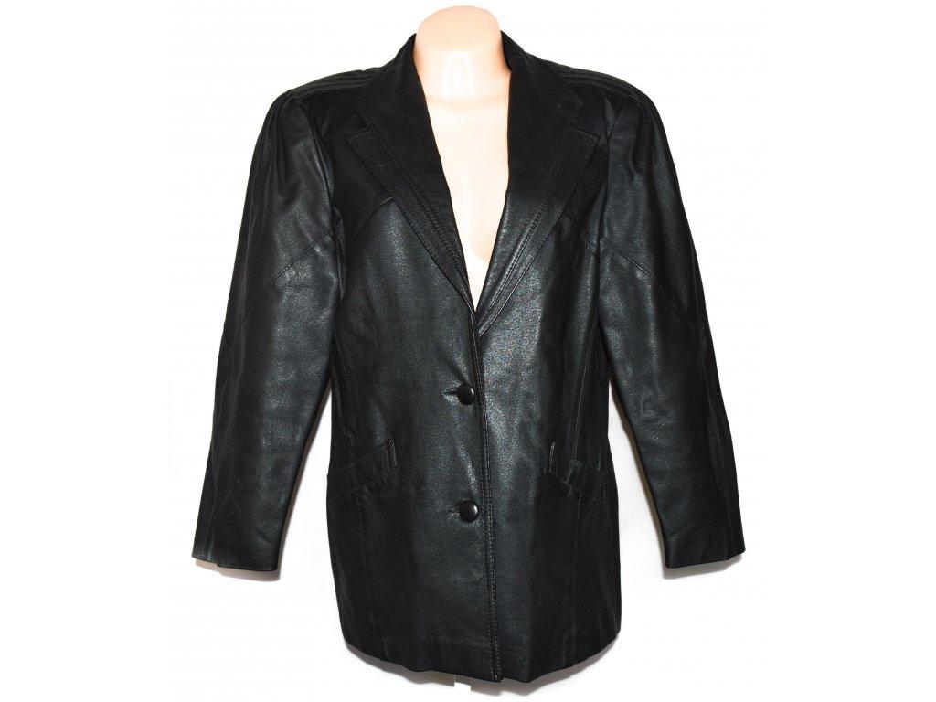 KOŽENÉ dámské černé sako 40