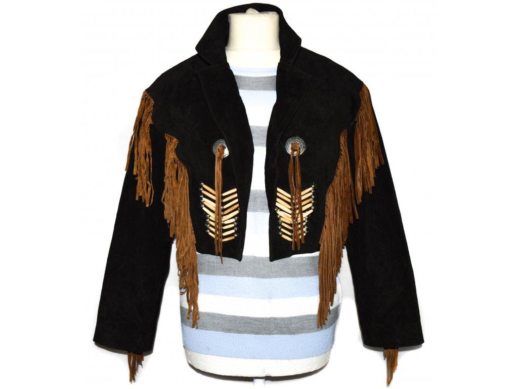 KOŽENÁ pánská černá country bunda Stollerpoint M