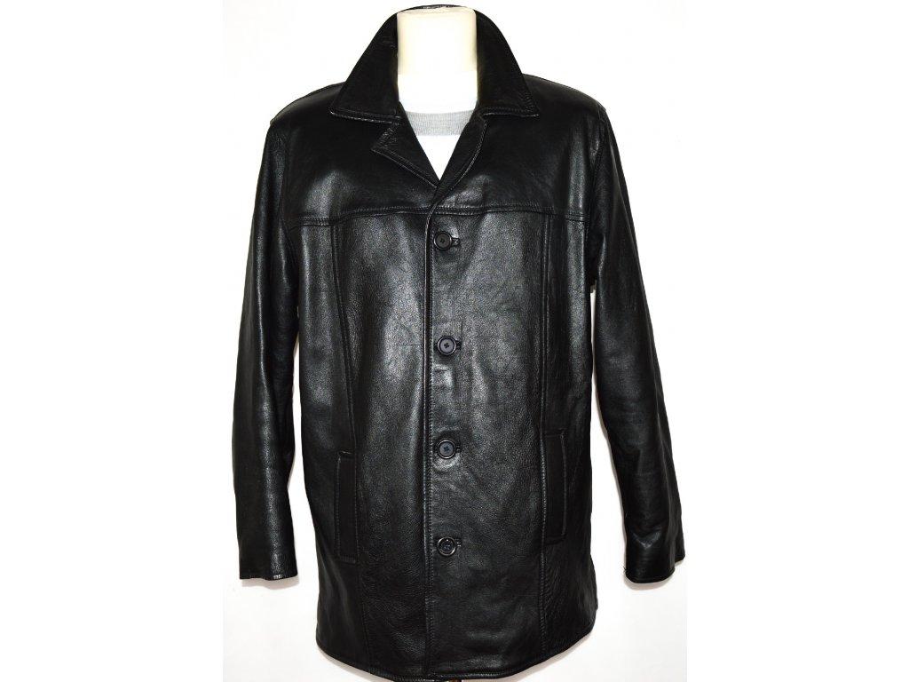 KOŽENÁ pánská měkká černá zateplená bunda MDK vel. L