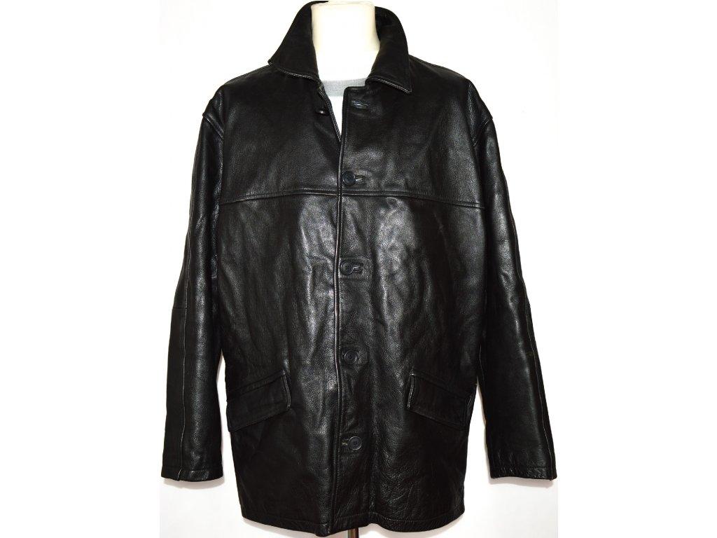 KOŽENÁ pánská černá bunda WALLACE SACKS L