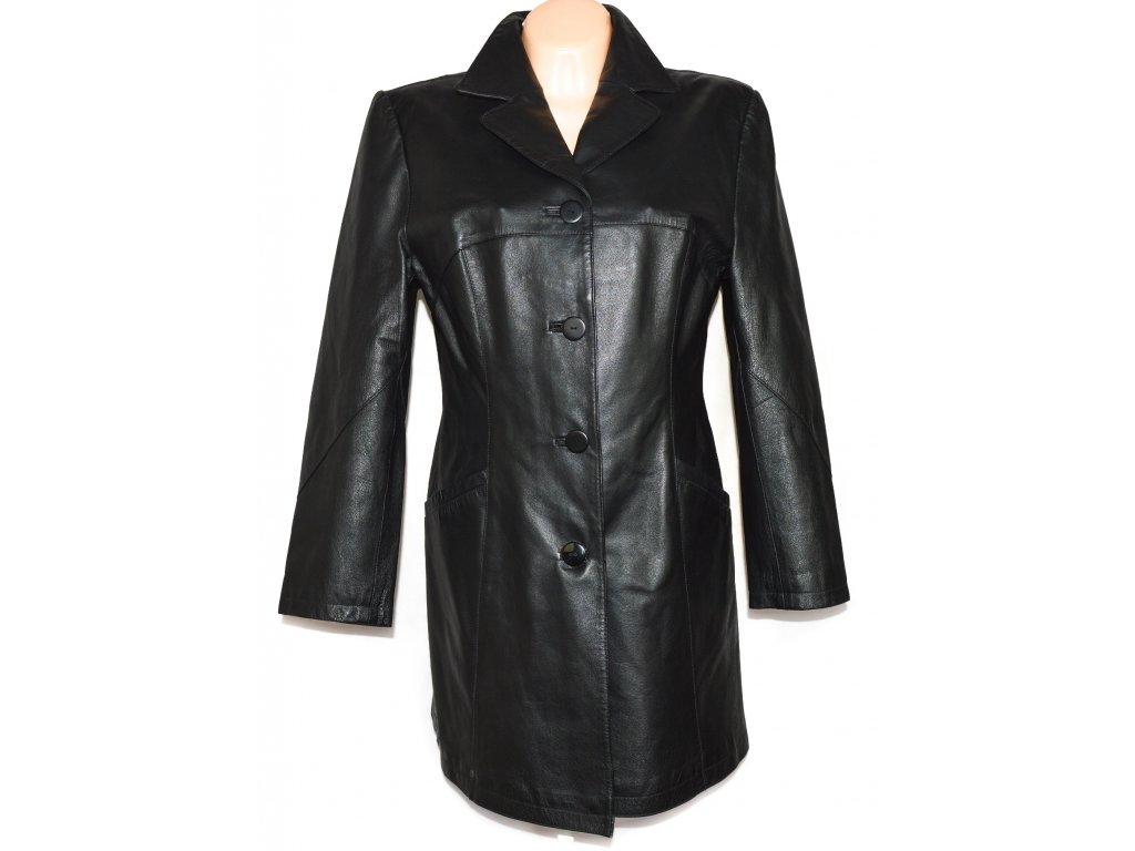 KOŽENÝ dámský černý měkký kabát CERO L