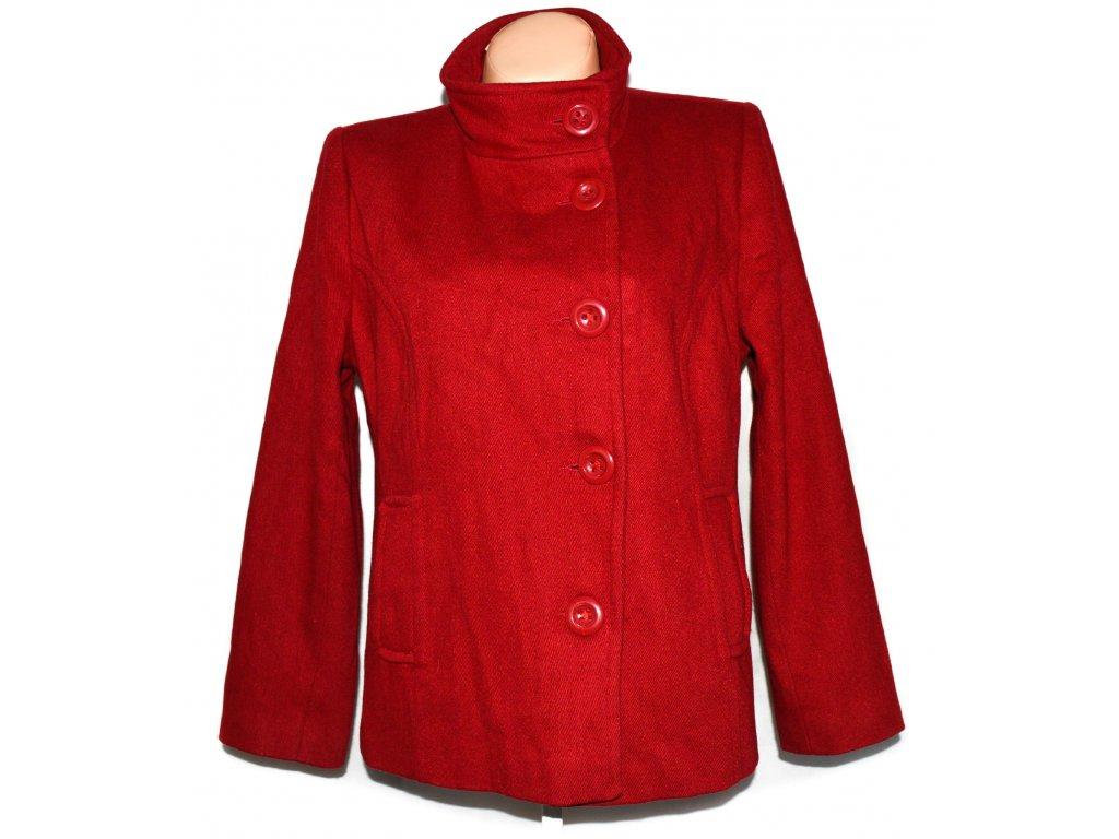 Vlněný dámský červený kabát BHS 14/42