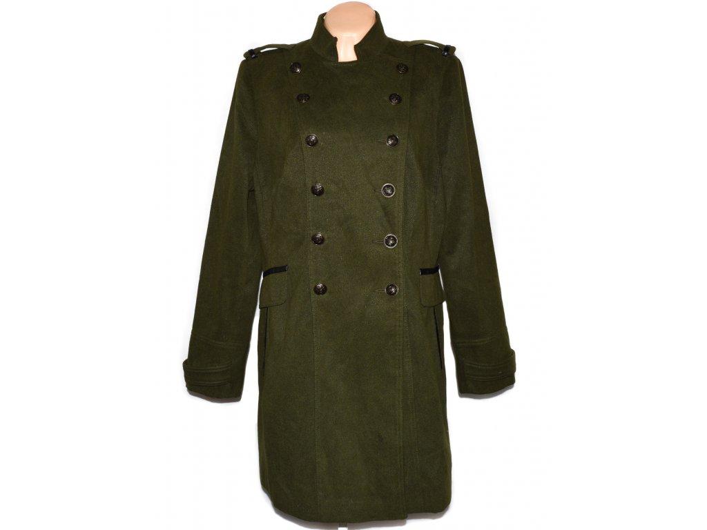 Dámský khaki zelený kabát F&F XXL