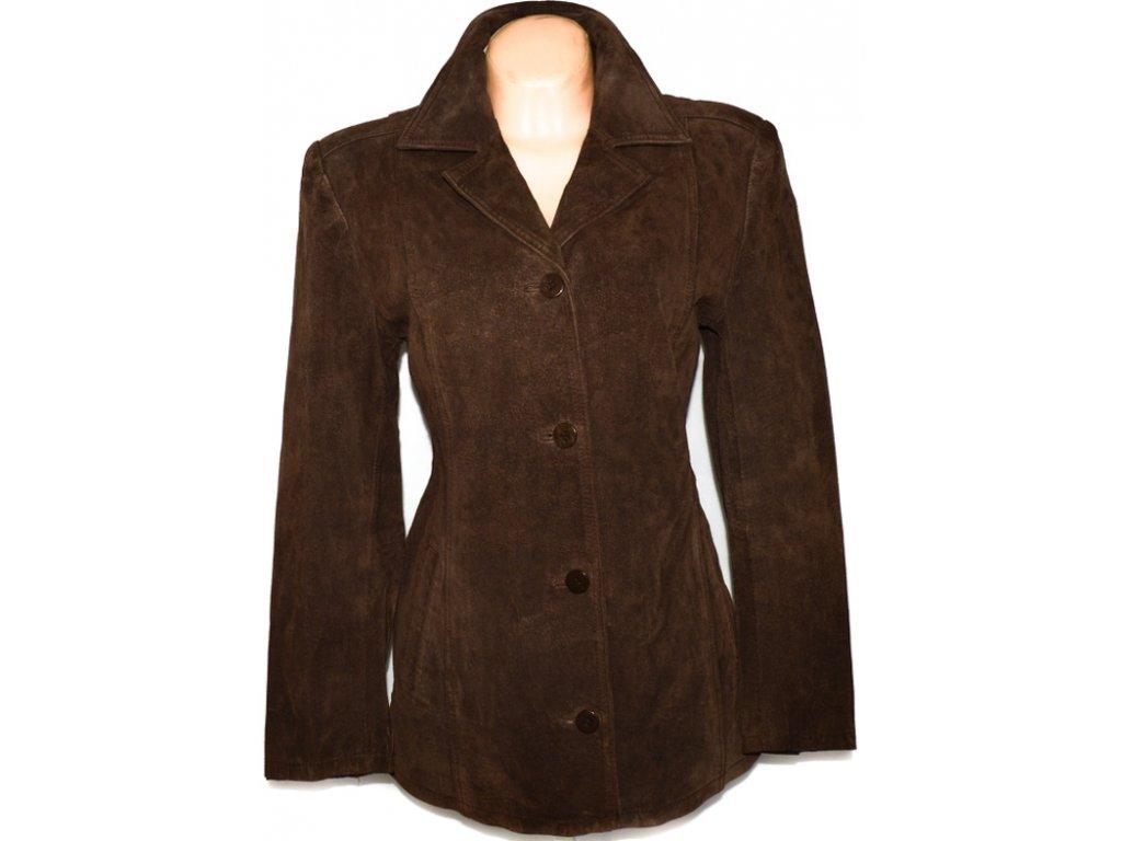 KOŽENÝ dámský broušený hnědý kabát JOIE DE VIVRE