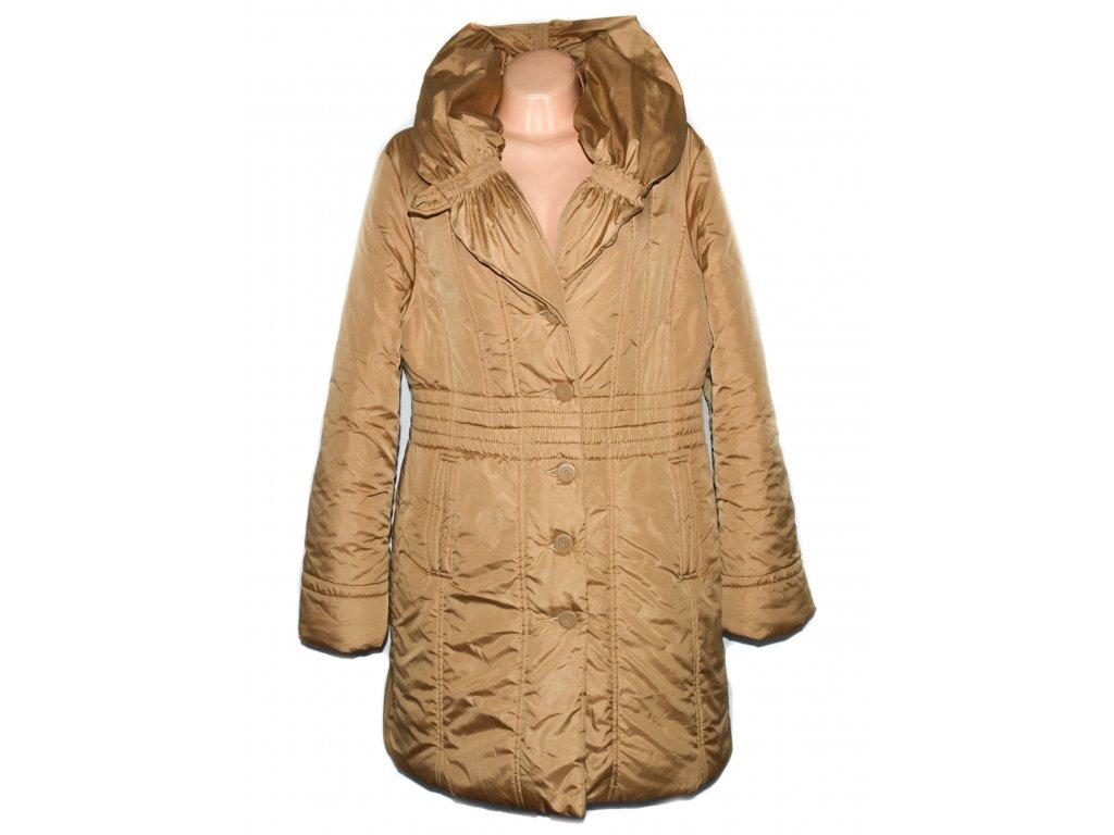 Dámský šusťákový zlatý kabát Andrea Martiny 48