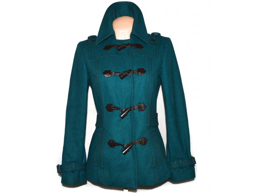 Vlněný (80%) dámský modrozelený kabát TED BAKER M