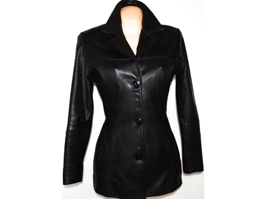 KOŽENÝ dámský měkký černý kabát GIPSY i